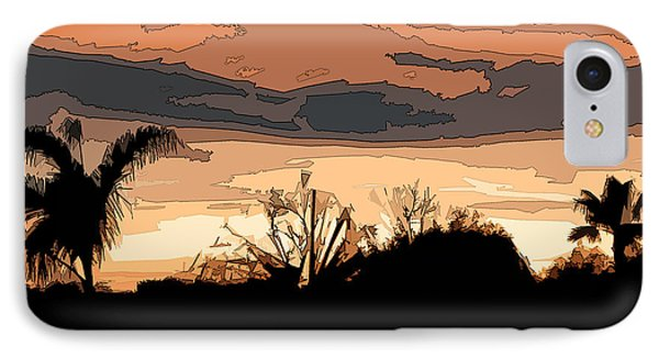 IPhone Case featuring the digital art Solana Beach Sunset 2 by Kirt Tisdale