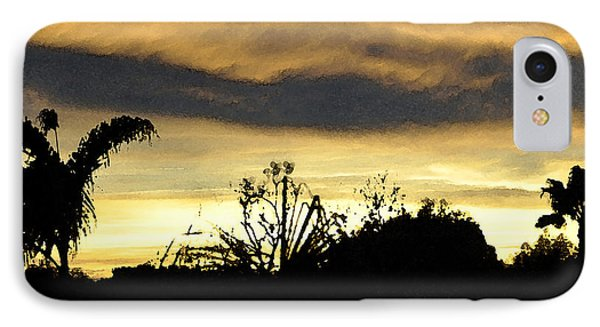 IPhone Case featuring the digital art Solana Beach Sunset 3 by Kirt Tisdale