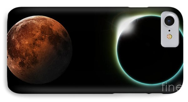 Solar And Lunar Eclipses IPhone Case by Antony McAulay