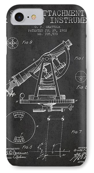 Solar Attachement For Transit Instruments Patent From 1902 - Cha IPhone Case by Aged Pixel