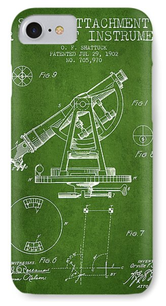 Solar Attachement For Transit Instruments Patent From 1902 - Gre IPhone Case by Aged Pixel