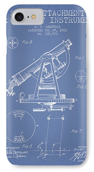 Solar Attachement For Transit Instruments Patent From 1902 - Lig IPhone Case by Aged Pixel