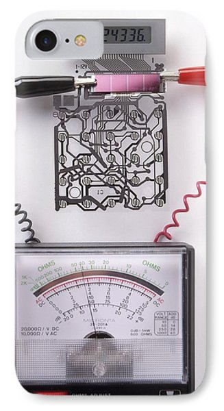 Solar Cell Inside A Calculator IPhone Case by Dorling Kindersley/uig
