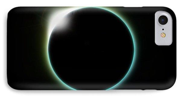 Solar Eclipse Moon IPhone Case by Antony McAulay