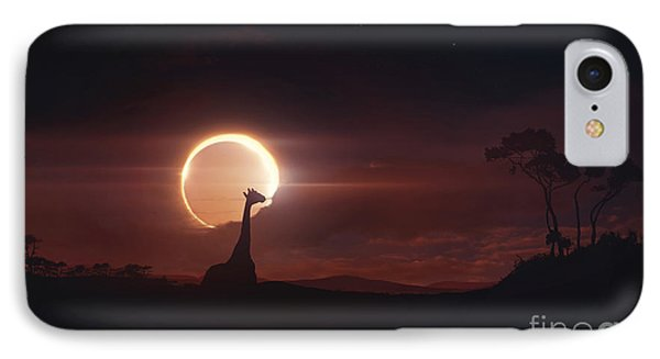 Solar Eclipse Over Africa IPhone Case by Tobias Roetsch
