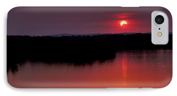 Solar Eclipse Sunset IPhone Case by Jason Politte