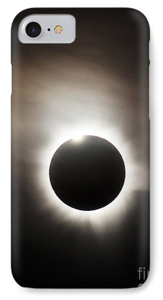 Solar Eclipse With Diamond Ring Effect Phone Case by Philip Hart