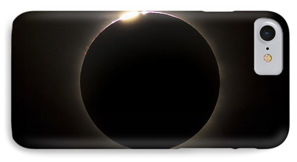 Solar Eclipse With Prominences Phone Case by Philip Hart