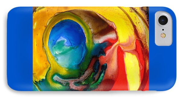 IPhone Case featuring the painting Solar Flare by Catherine Redmayne