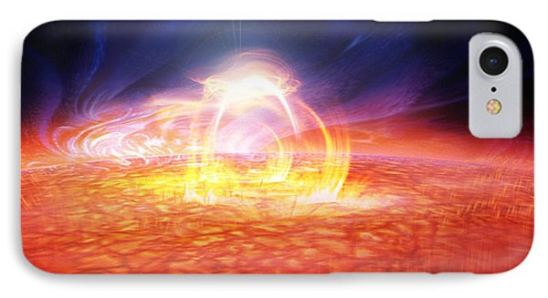 Solar Flare IPhone Case by Don Dixon