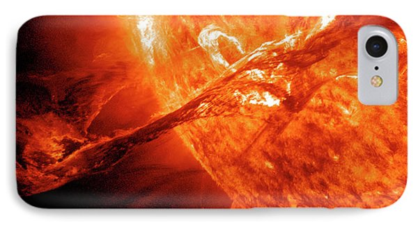 Solar Flare IPhone Case by Solar Dynamics Observatory/nasa