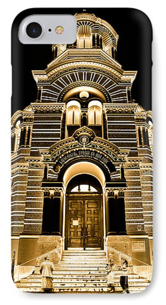 Solar Gold - Nativity Of Christ Orthodox Cathedral - Riga - Latvia Phone Case by David Hill