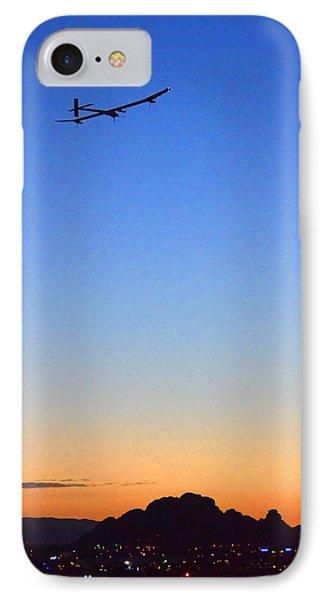 Solar Impulse Departs Sky Harbor May 22 2013 IPhone Case by Brian Lockett