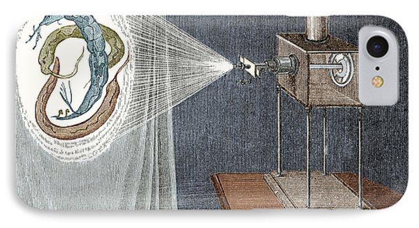 Solar Microscope, 18th Century IPhone Case by Science Source