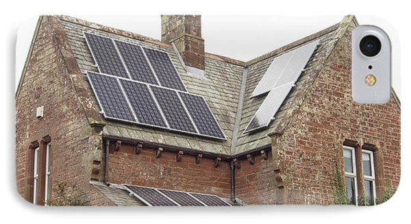 Solar Panels On A House IPhone Case by Ashley Cooper