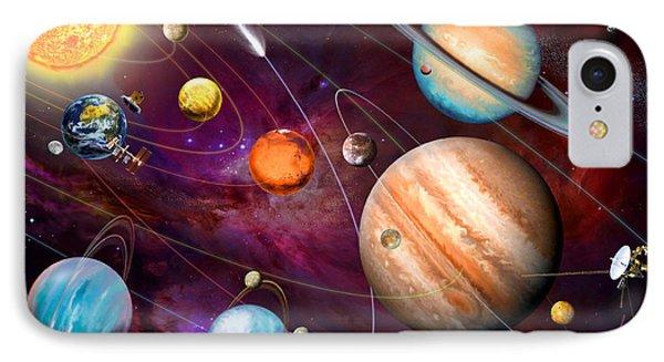 Solar System 2 IPhone Case by Garry Walton