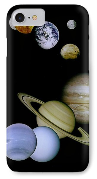Solar System Montage Phone Case by Movie Poster Prints