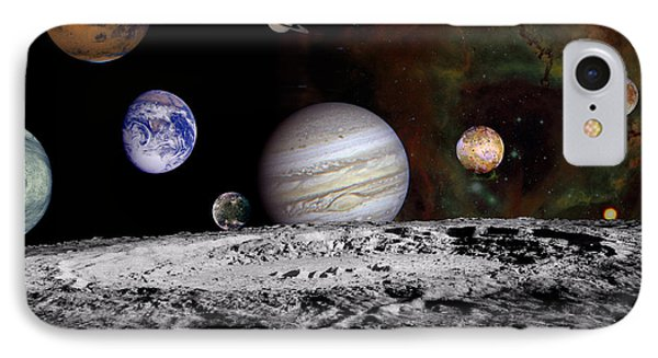 Solar System Montage Of Voyager Images Phone Case by Movie Poster Prints