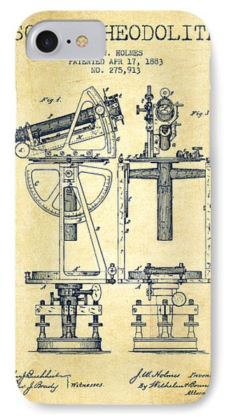 Solar Theodolite Patent From 1883 - Vintage IPhone Case by Aged Pixel