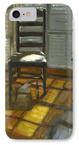 IPhone Case featuring the painting Sold Darkness Or Light? by Nancy  Parsons