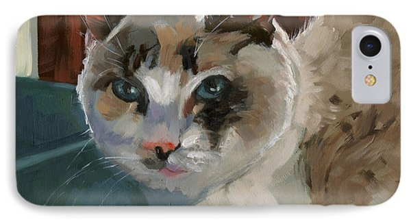 IPhone Case featuring the painting Sold -nelly Logan by Nancy  Parsons
