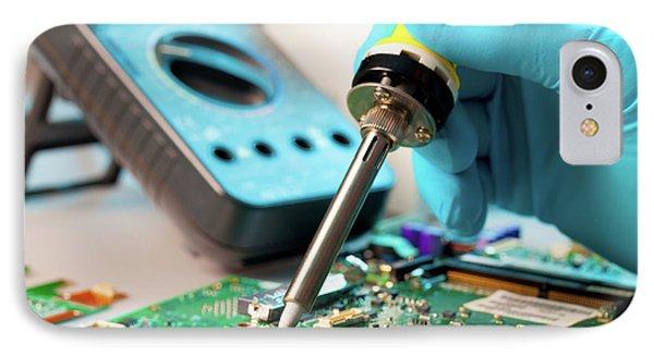 Soldering Microchip IPhone Case by Wladimir Bulgar