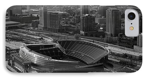 Soldier Field Chicago Sports 05 Black And White IPhone Case by Thomas Woolworth
