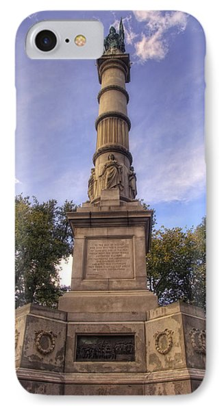 Soldiers And Sailors Monument - Boston Phone Case by Joann Vitali