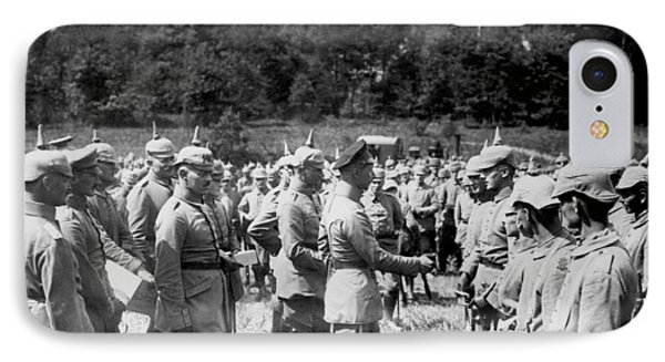 Soldiers Receive Iron Crosses IPhone Case by Underwood Archives