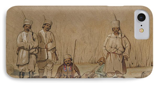 Soldiers Relaxing, 1844 Wc & Gouache On Paper IPhone Case