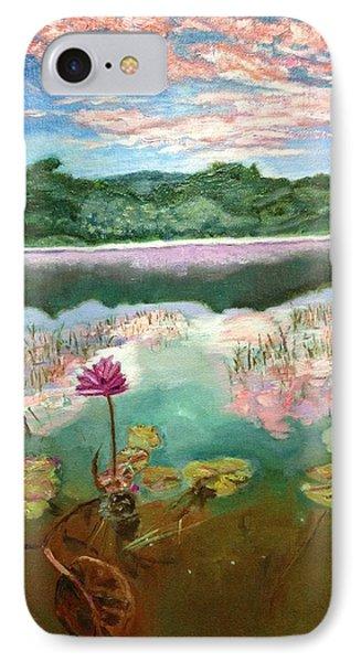 Solitary Bloom IPhone Case by Belinda Low