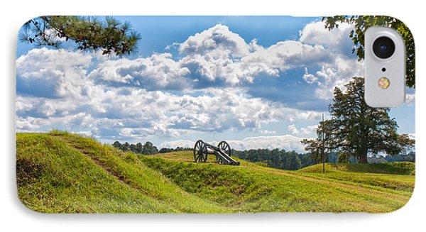 Solitary Cannon At Yorktown IPhone Case by John M Bailey