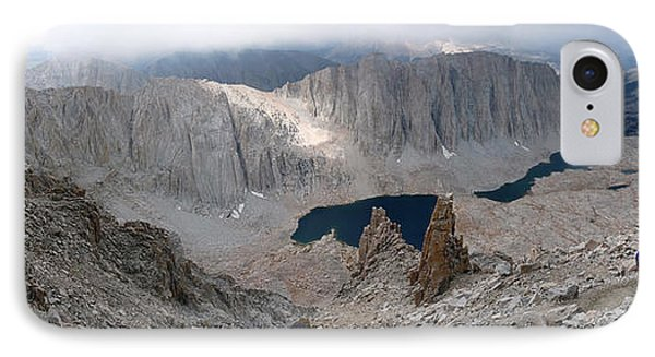 IPhone Case featuring the photograph Solitary Hiker Panorama by Alan Socolik