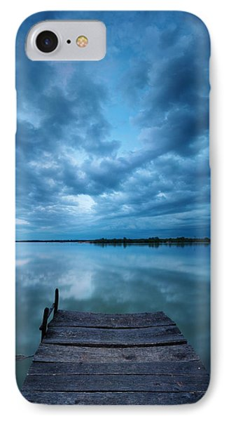 Solitary Pier IPhone Case by Davorin Mance