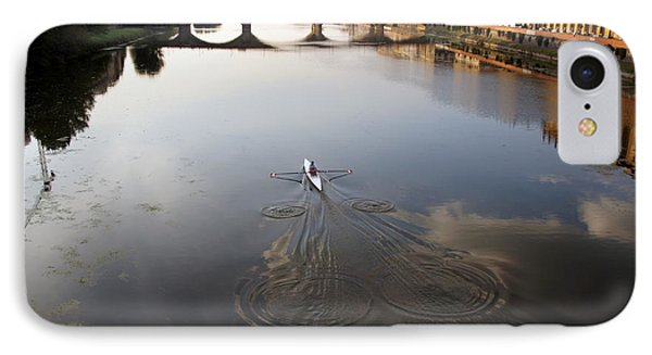 Solitary Sculler IPhone Case by Debi Demetrion