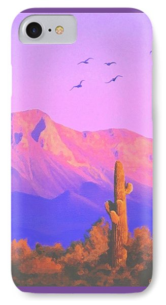 IPhone Case featuring the painting Solitary Silent Sentinel by Sophia Schmierer