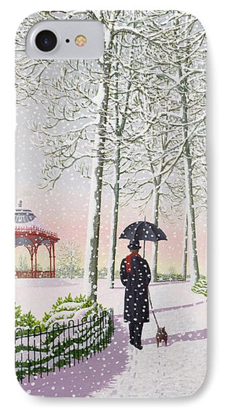 Solitary Stroll IPhone Case by Peter Szumowski