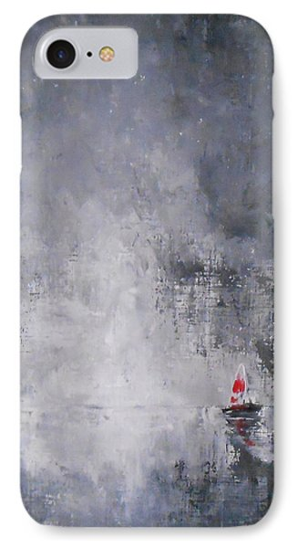 IPhone Case featuring the painting Solitude 2 by Jane  See