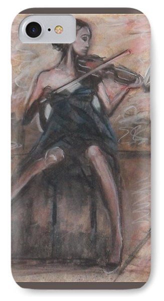IPhone Case featuring the painting Solo Concerto by Jarmo Korhonen aka Jarko