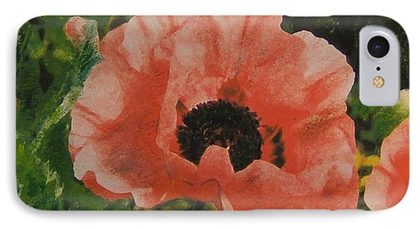 IPhone Case featuring the painting Solo Poppy by Richard James Digance