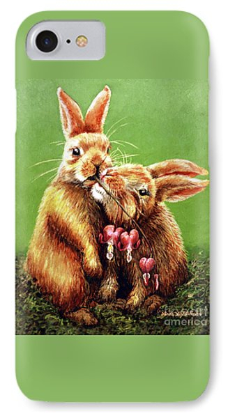 Some Bunny Loves You IPhone Case by Linda Simon