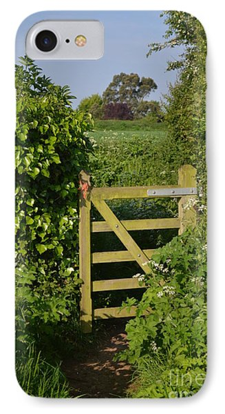 Somerset Countryside Gate Uk Phone Case by Rene Triay Photography