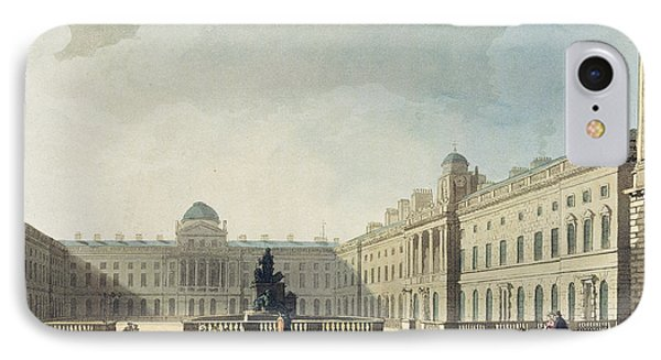 Somerset House, Strand, From Ackermanns IPhone Case by T. & Pugin, A.C. Rowlandson