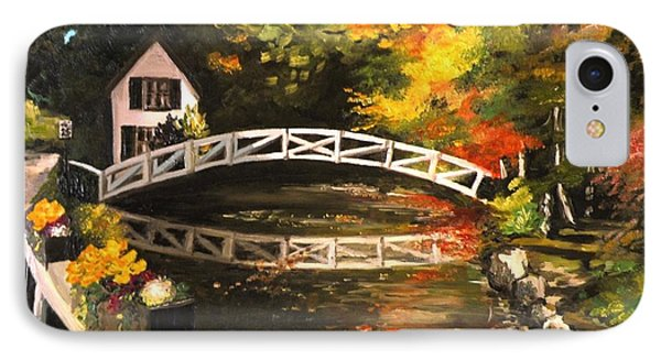 Somesville Maine Footbridge IPhone Case