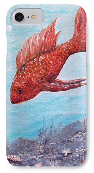 Something Is Fishy Phone Case by Rhonda Lee