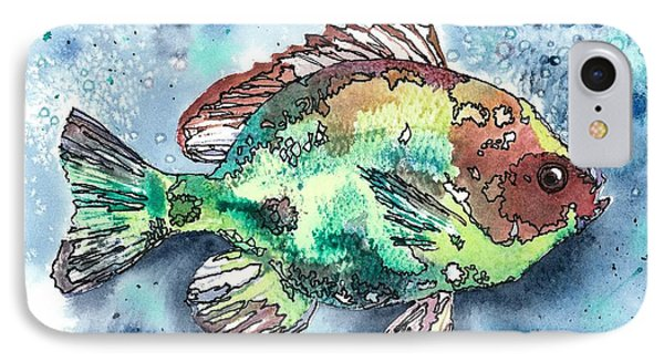 IPhone Case featuring the painting Something's Fishy Two by Barbara Jewell