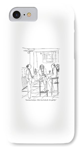Sometimes I Sell Puts.  Other Times I Sell Calls IPhone Case by Richard Cline
