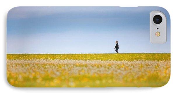 Sometimes We All Walk Alone Phone Case by Karol Livote