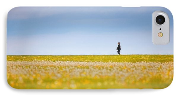 Sometimes We All Walk Alone IPhone Case by Karol Livote