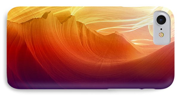 IPhone Case featuring the photograph Somewhere In America Series - Colorful Light In Antelope Canyon by Lilia D